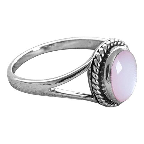 Rope Edged Silver Ring