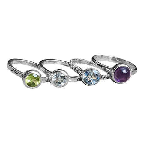 Gemstone Stack Rings