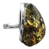 Mesmerising Green Amber Ring