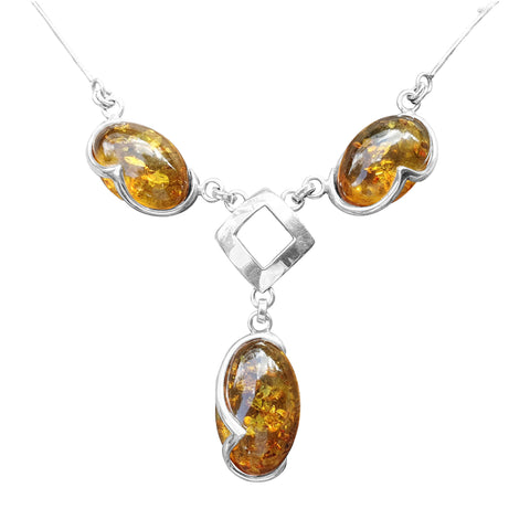 Amber Art Deco Necklace