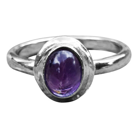 Halo Silver Gemstone Ring