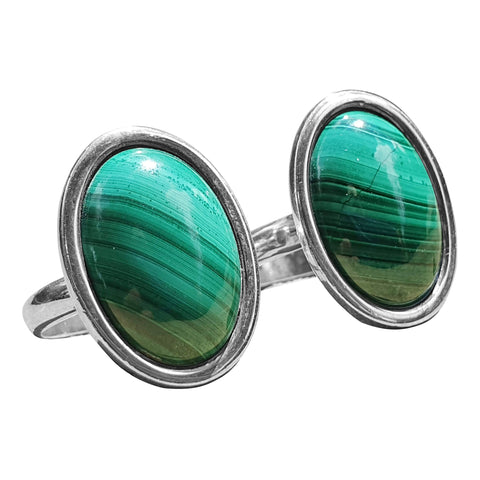 Malachite Rings