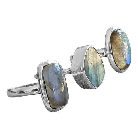 Labradorite Sheen Rings