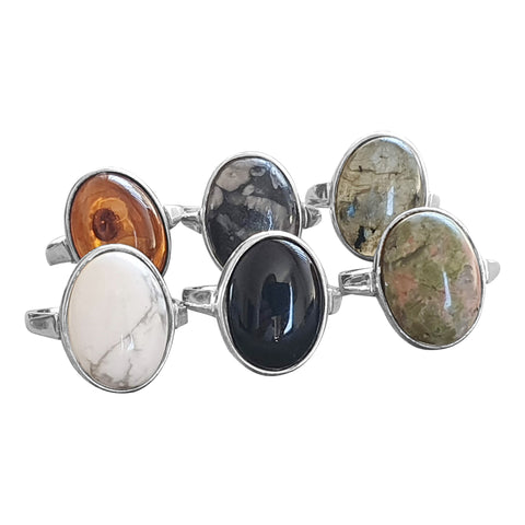 Gemstone Symbol rings