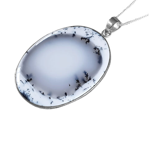 Halo Merlinite Pendant and Silver Chain