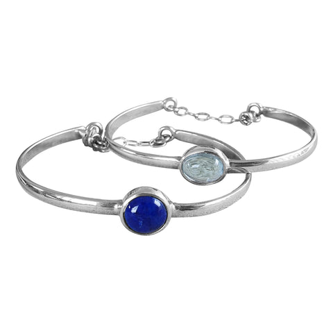 Blue Topaz Bangle