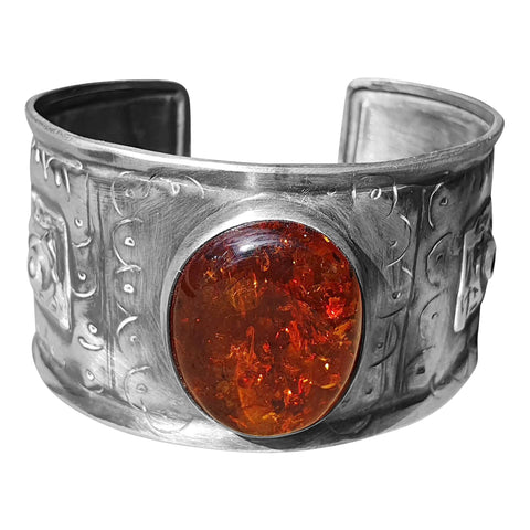 Viking Style Amber Bangle