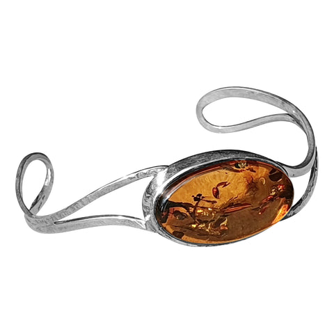 Hammered Amber Bangle