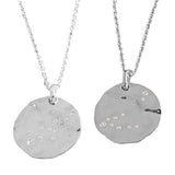 Zodiac Constellation Necklace in Silver, Rose Gold Plated , Yellow Gold Plated