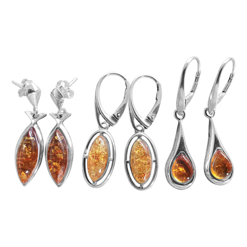 Elegant Amber Earrings
