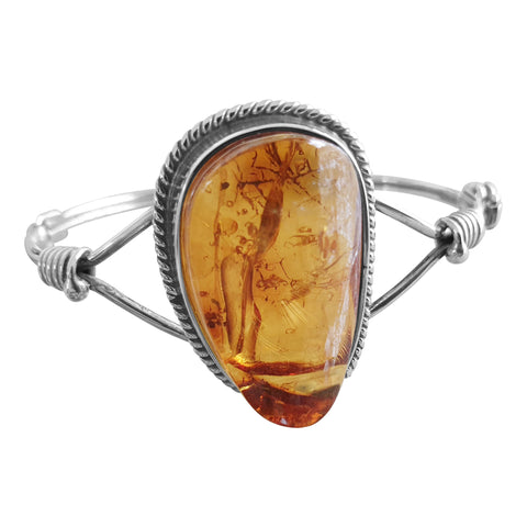 Rope Edged Amber Bangle