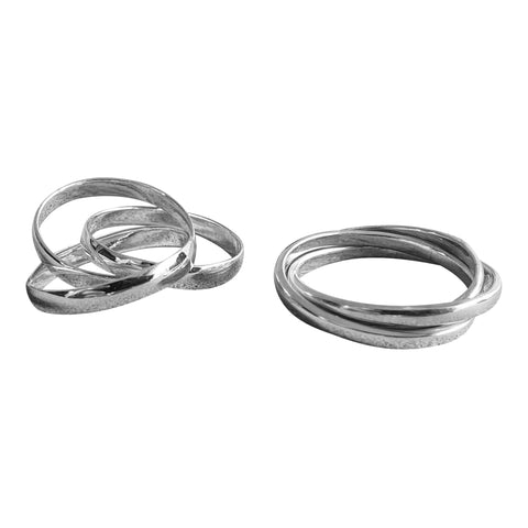 Russian Wedding Bands in Silver