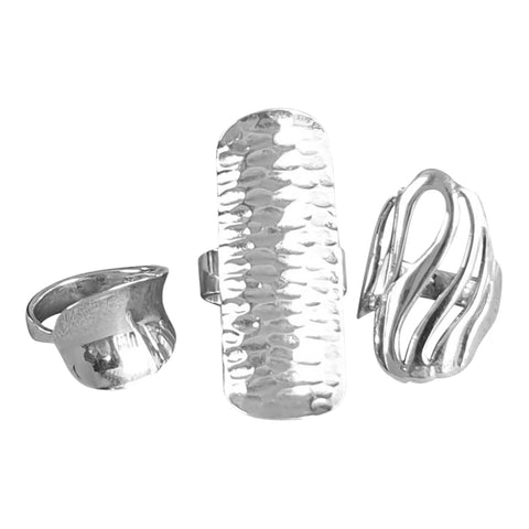 Statement Silver Rings