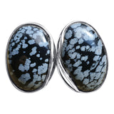 Infinity and Wave Snowflake Obsidian Rings