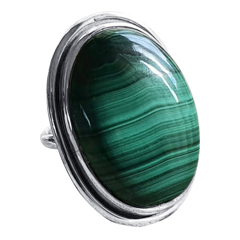 Malachite Banded  Ring