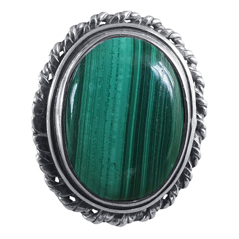 Malachite Twisted Edge Ring