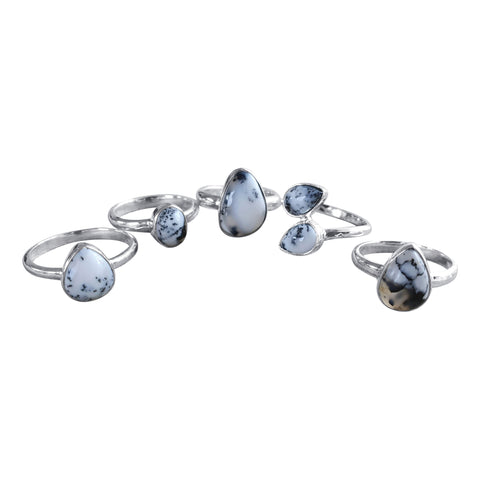 Merlinite Siver Rings