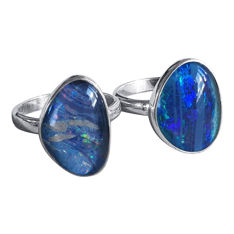 Wonderful Opal Silver Rings