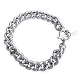 Weighty Silver Curb Chain