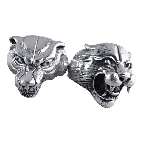 Silver Growling Cougar Rings