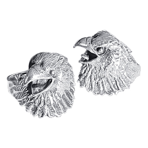 Eagle Head Silver Ring