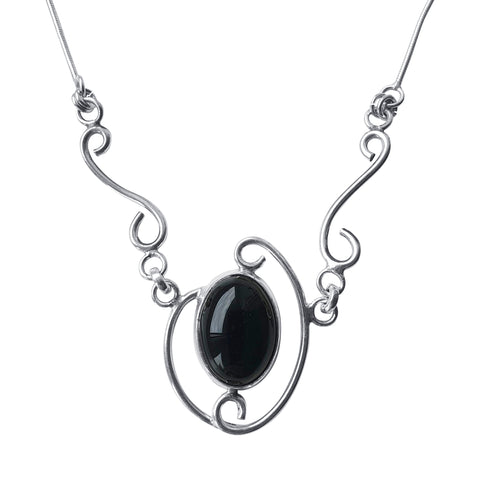 Black Onyx Insignia Necklace