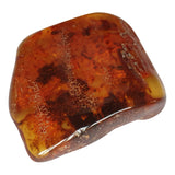 Partially polished Amber gemstone