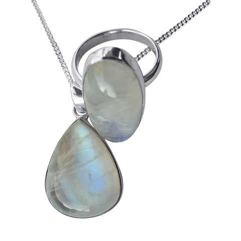 Moonstone Pendant and Ring