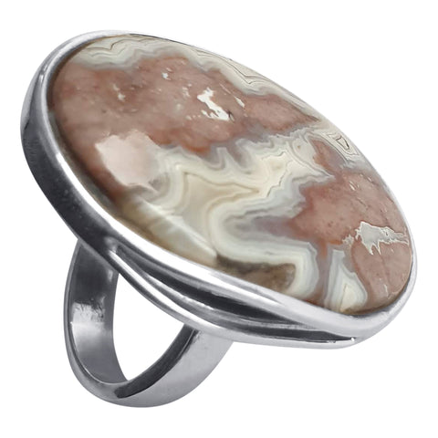 Crazy Lace Agate Juno Ring