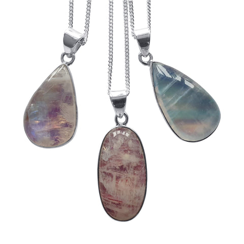 Whimsical  Moonstone Pendants