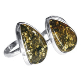 Green Amber Glinting  Ring