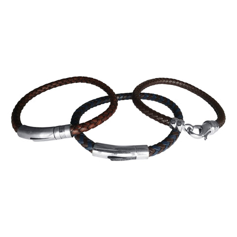 Plaited Leather Bracelets