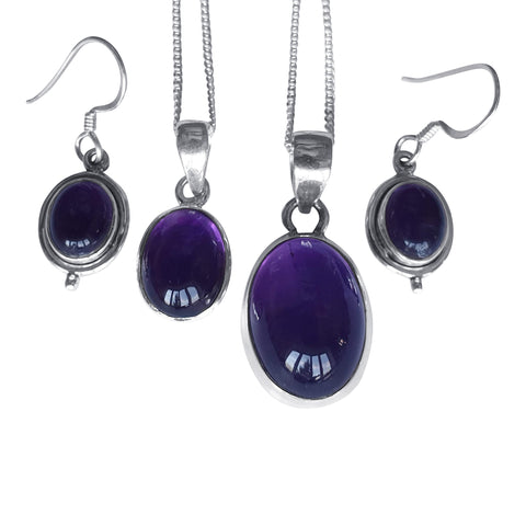 Amethyst Pendant & Earrings Selection