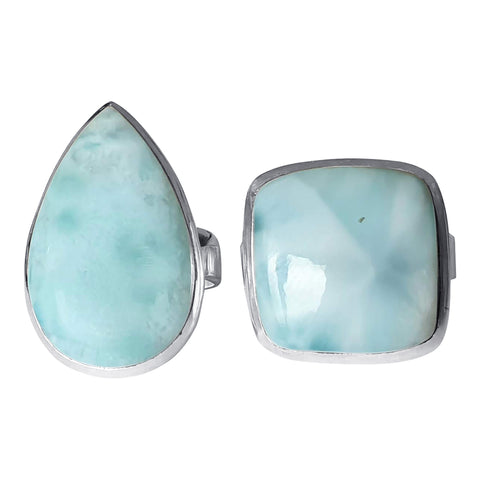 Sea Breeze Blue Larimar Rings