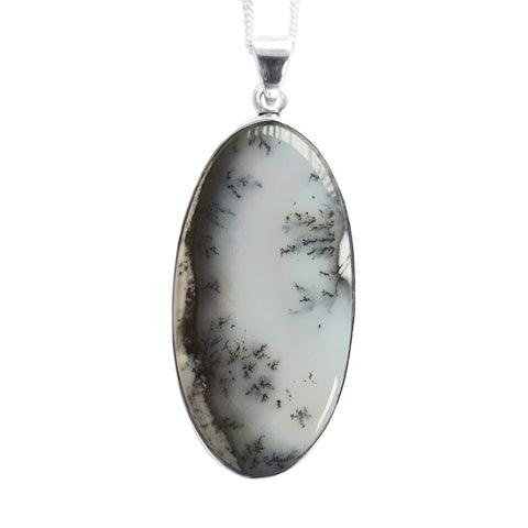 Dendritic Merlinite Silver Pendant