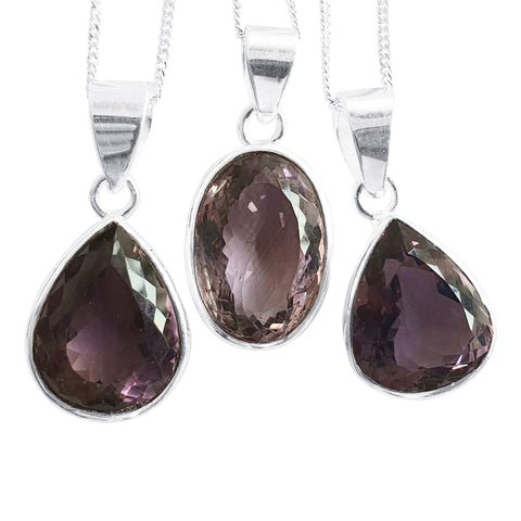 Amethyst Faceted Pendants