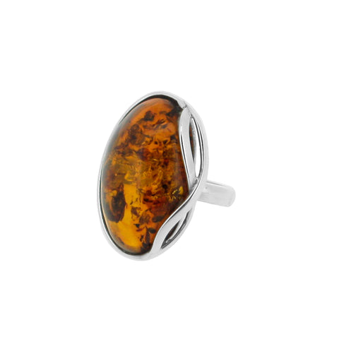 Infinite Cognac Amber Ring