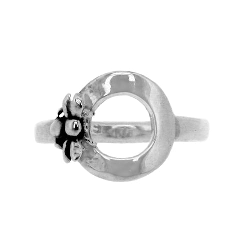 Handmade Sterling silver ring bumble bee jewellery