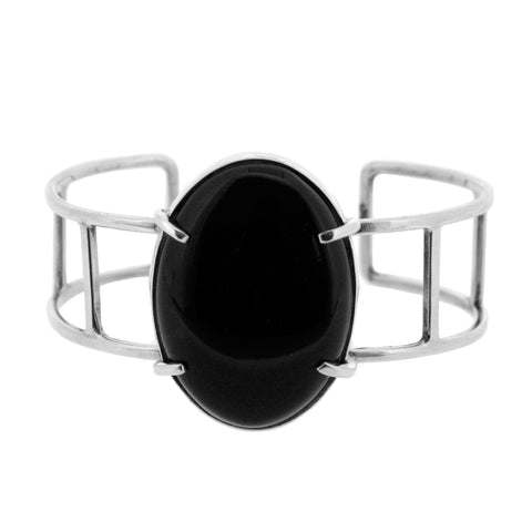 Black Onyx Sterling Silver Bangle