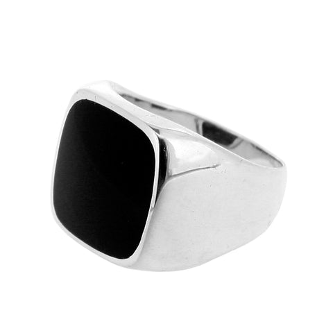Square Black Onyx Signet Ring