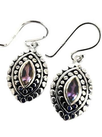 Patterned Amethyst earrings