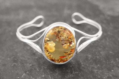 Scattered Amber Bangle