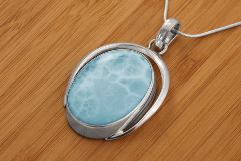 Simple Larimar Necklace
