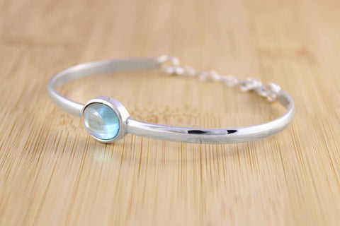 Handmade Blue Topaz Bangle