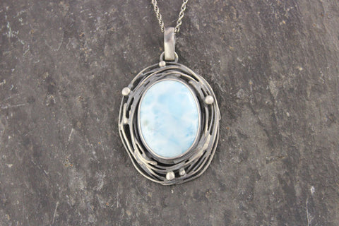 Elaborate Larimar Necklace
