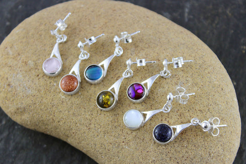 Gemstone Pixie Earrings