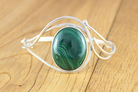 Intricate Malachite Bangle