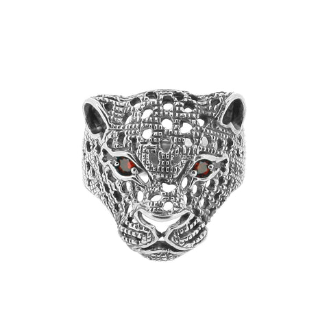 Leopard Head Ring