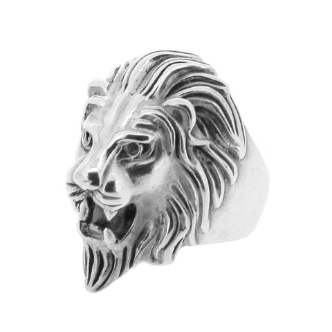 Large Silver Lion Ring