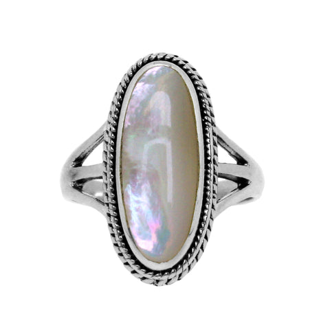 Mother of Pearl Braided Ring